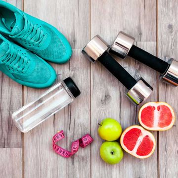 workout gear and health food